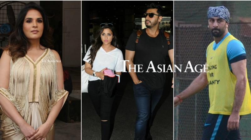 B-town celebs Ranbir Kapoor, Richa Chadha, Arjun-Parineeti were seen in the city. See the exclusive pictures of your favourite Bollywood celebrities here. (Photos: VIral Bhayani)