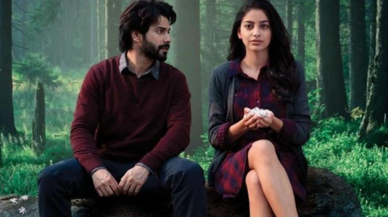 Varun Dhawan and Banita Sandhu in the still from 'October' film.