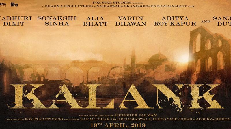 Poster of 'Kalank'.