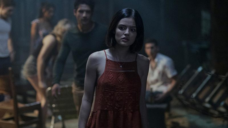 Lucy Hale and others in the still from 'Truth or Dare'.