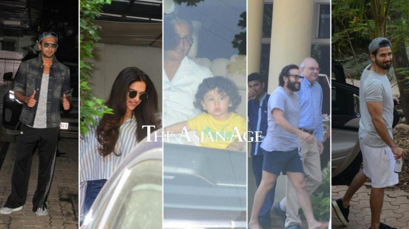 Taimur Ali Khan is back in town and there couldn't be anything more joyful. Alongside the kid, his father Saif, 'Padmaavat' stars Deepika, Ranveer and Shahid along with Amitabh Bachchan and others were spotted.