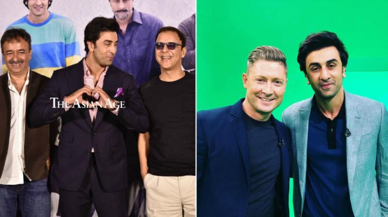 The day yesterday was eventful as Ranbir Kapoor went all out to promote his upcoming release 'Sanju' by launching his teaser among the media as well as with the cricketers at the IPL match.