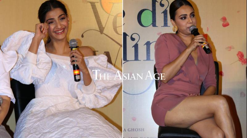 Sonam Kapoor and Swara Bhasker at the trailer launch.