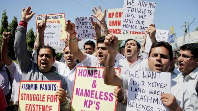 On 19 January 2019, Kashmiri Pandits completed 30 years of their exile and have been living like refugees in their own country. (Photo: PTI/File)