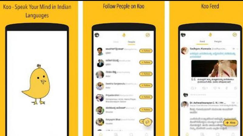 Koo is a Twitter-like micro-blogging platform which allows users to post multimedia content, including audio clips. (by arrangement)