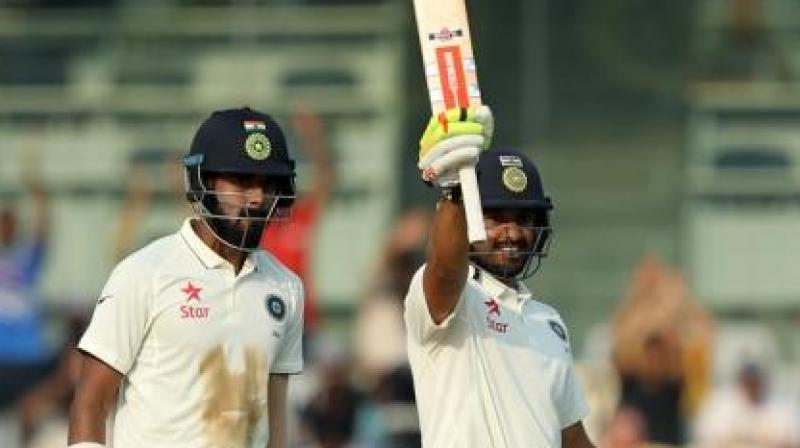 While KL Rahul scored 199, Karun Nair scored unbeaten 303 as India took control of the fifth and final Test against England in Chennai. (Photo: BCCI)