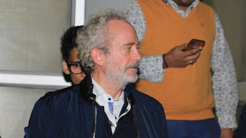 Christian Michel James was questioned by the CBI through the night. (Photo: ANI/Twitter)
