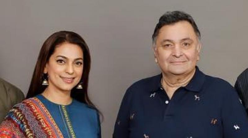 Rishi Kapoor and Juhi Chawla. (Photo: Instagram)