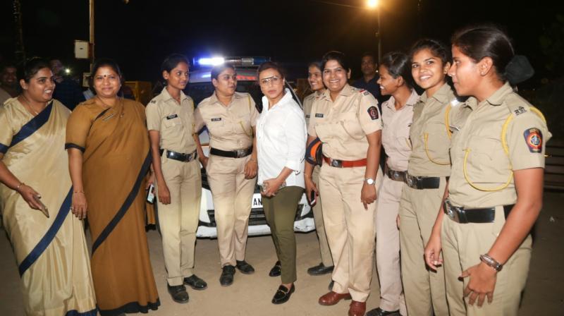 Rani Mukerji with Night Patrol Police.