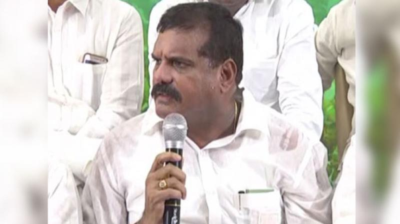 Satyanarayana on Tuesday apparently stirred controversy by stating that Amaravati, which lies in a flood-prone area is not a safe place for the capital city and much of the public's money had been wasted in developing it. (Photo: ANI)
