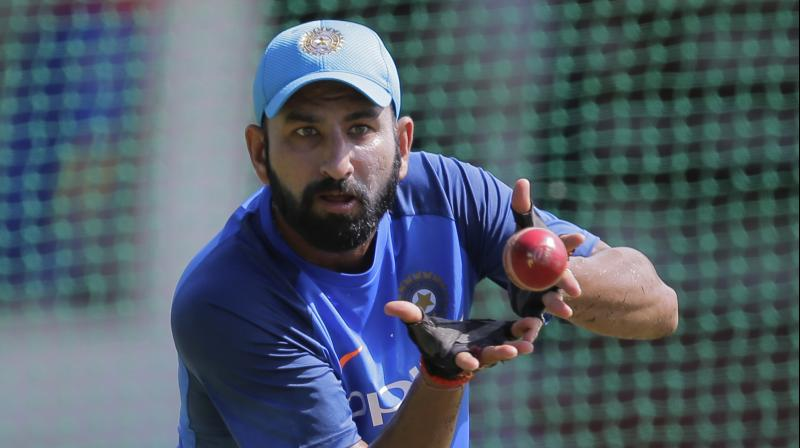 """""""Overall, the Indian team has improved as a fielding unit but slip fielding is something we are still looking to improve,"""" said Cheteshwar Pujara after the third and final India versis Sri Lanka Test in New Delhi. (Photo: AP)"""