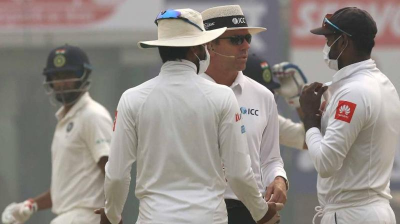 The IMA letter comes after Sri Lankan players were seen wearing masks during the third and final Test game between India and Sri Lanka in the national capital's Feroz Shah Kotla stadium. (Photo: BCCI)