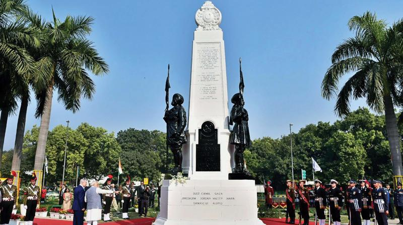 "Forty-four Indian soldiers made the ultimate sacrifice during the liberation of the city in World War I. Till date, the 61 Cavalry celebrates September 23 as its Raising Day or ""Haifa Day."""