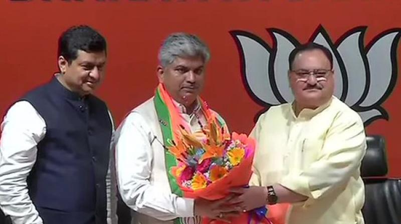 Rapolu was associated with the Telangana movement and had quit the Congress last month.  (Image: ANI)