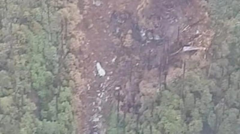 The site where the wreckage of the AN-32 has been spotted is located 16 km north of Lipo and about 12 to 15 km west of Gatte under Payum region of Shi Yomi district. (Photo: ANI | Twitter)