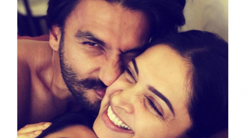 Ranveer Singh and Deepika Padukone share an adorable moment. (Photo: Instagram)