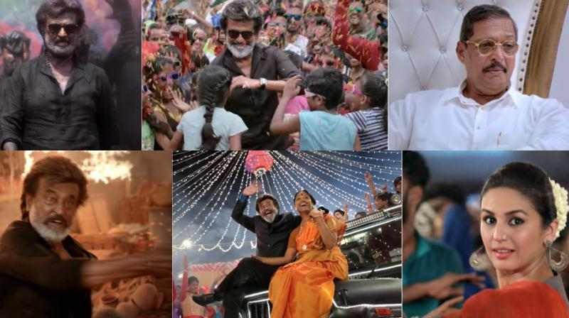 Screengrabs from the teaser of 'Kaala.'