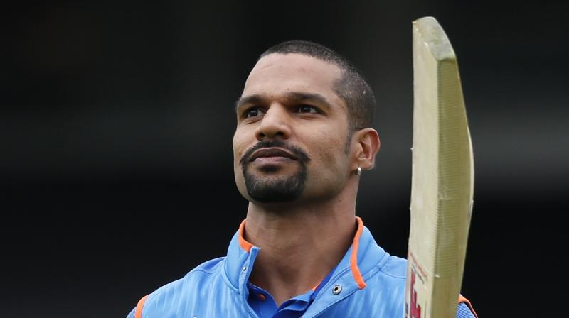 Shikhar Dhawan's 125 helped India post 321-6 in their ICC Champions Trophy game against Sri Lanka.(Photo: AP)