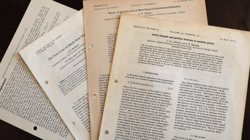 A copy of the scientist's doctoral thesis fetched almost 585,000 pounds (USD767,000). (AP Photo/Frank Augstein, file)