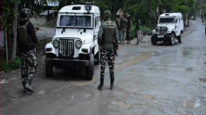 One terrorist was neutralised on Saturday morning in an encounter between terrorists and a joint team of security forces in Panzgam village of Awantipora in south Kashmir's Pulwama district. (Photo: ANI)