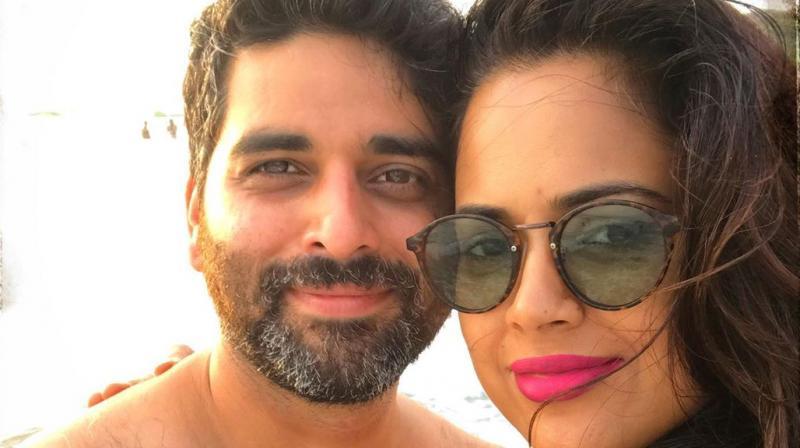 Sameera Reddy and Akshai Varde. (Photo: Instagram)