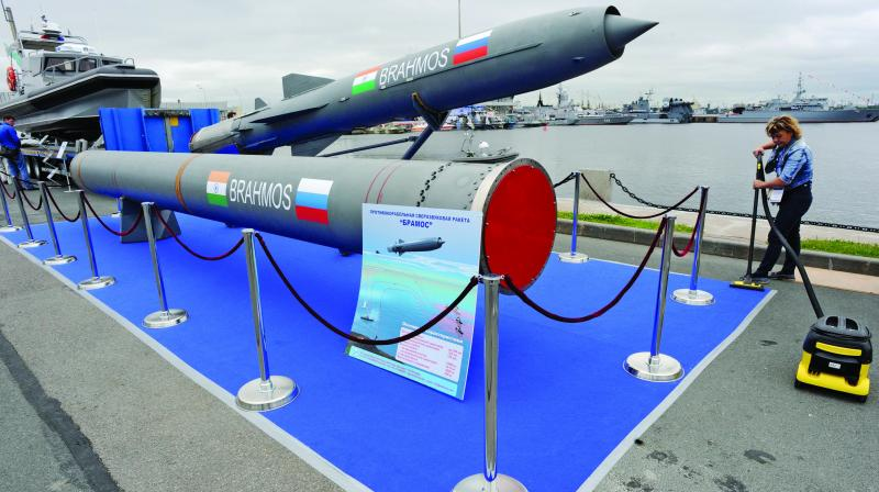 The BrahMos missile. (Photo: AFP)