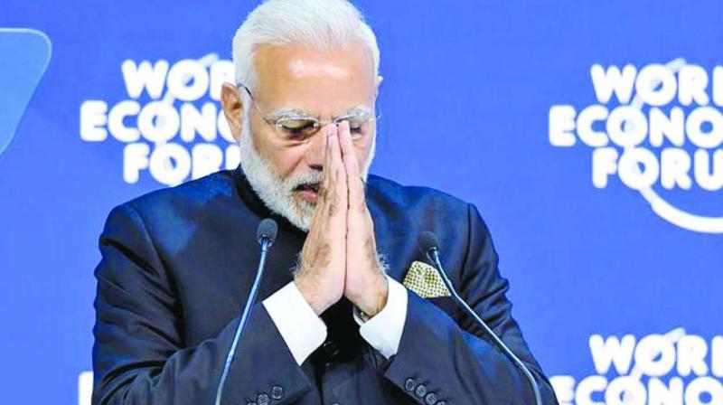 File photo of PM Narendra Modi at the World Economic Forum. (Photo: AFP)