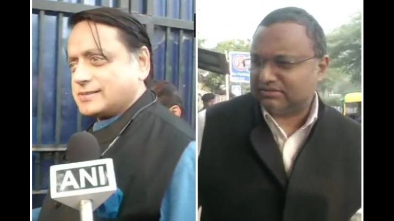 'Chidambaram is our party's senior leader and my colleague. We have come to meet him,' Tharoor said. (Photo: File | ANI)