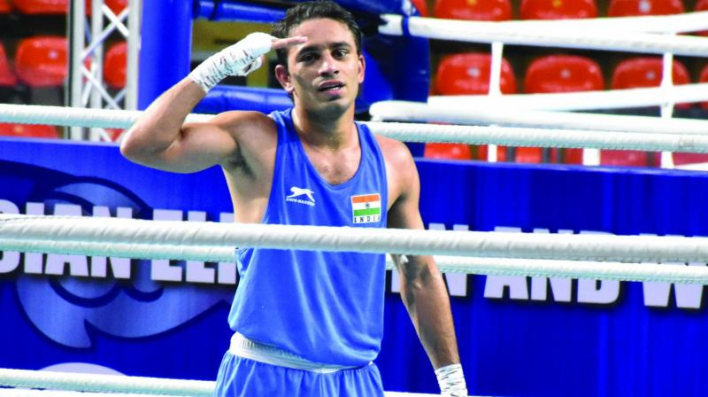 Panghal's rise has been nothing short of spectacular in Indian boxing ever since he claimed a 49kg category bronze in the 2017 Asian Championships. (Photo: File)