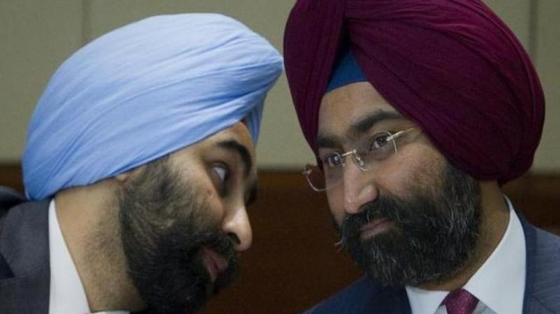 Former promoters of Fortis Healthcare Ltd, Malvinder Singh and Shivinder Singh. (Photo: ANI)