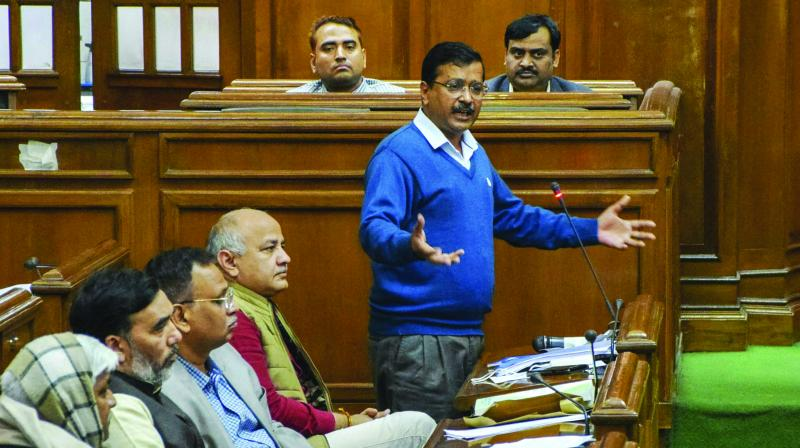 Delhi Chief Minister in Vidhan Sabha had said that files of various development projects of Delhi are not being cleared by the central government. (Photo: File)