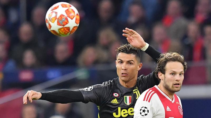 Ajax equalised 30 seconds into the second half after Cancelo lost control of the ball to allow David Neres to run down the left wing, cut inside and curl the ball past Juve goalkeeper Wojciech Szczesny. (Photo: AFP)