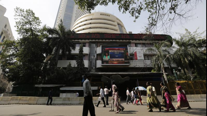 BSE Tower. (PTI Photo)
