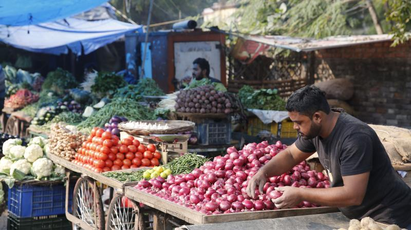 Inflation in vegetables fell sharply to 11.90 per cent in March. (AP Photo)
