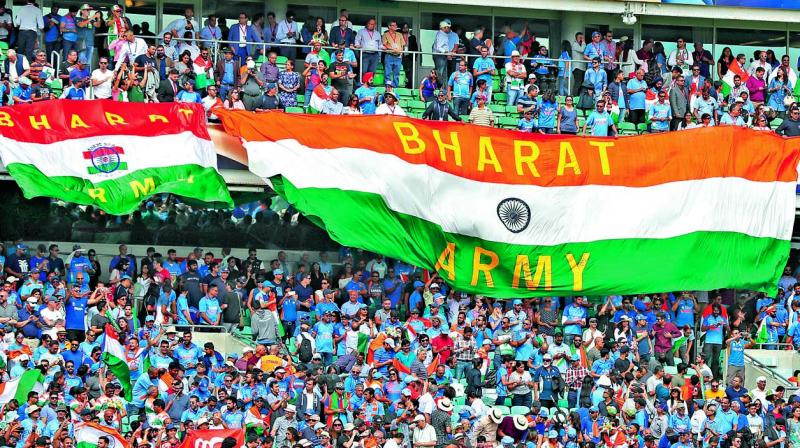 Indian fans came out in droves to support their team at the Oval. (Photo: AP)