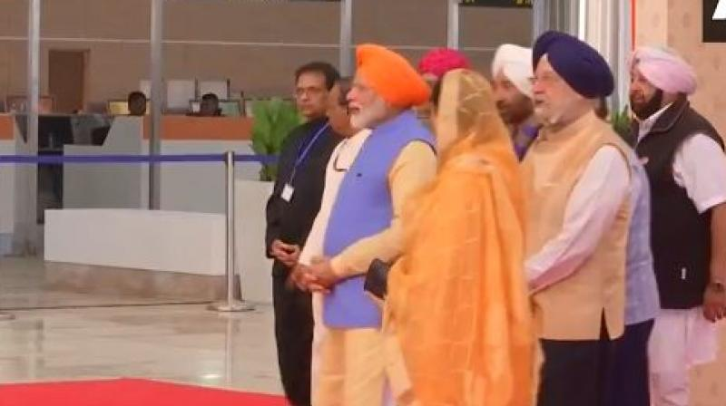 Ahead of the 550th birth anniversary of Guru Nanak Dev, Prime Minister Narendra Modi on Saturday will inaugurate a 4.5 kilometre-long Kartarpur Corridor. (Photo: Twitter/ANI)