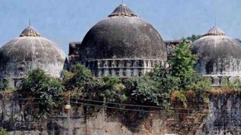 The Babri Masjid as it stood before its destruction by someone. (File photo)