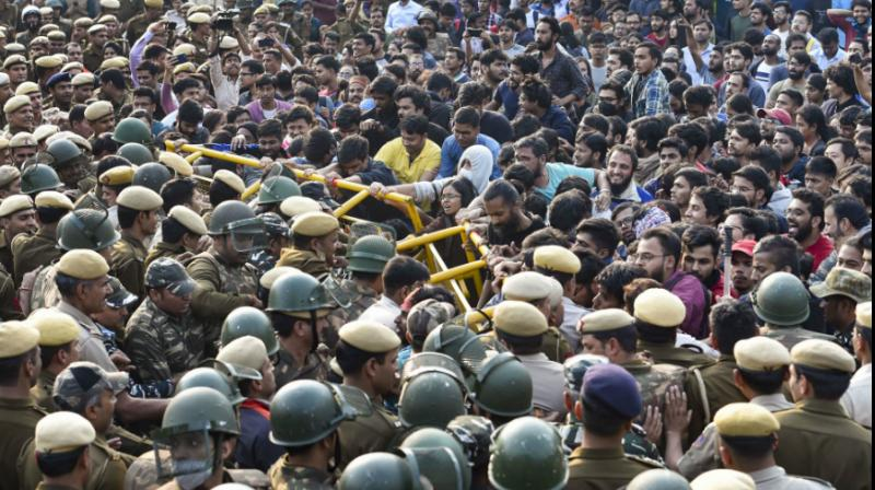 The protesting students of Jawaharlal Nehru University Students' Union (JNUSU) have said the varsity is facing an