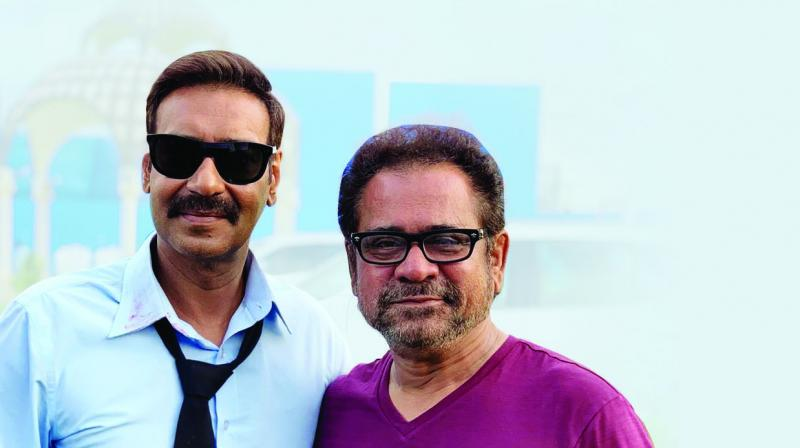 Anees Bazmee and Ajay Devgn