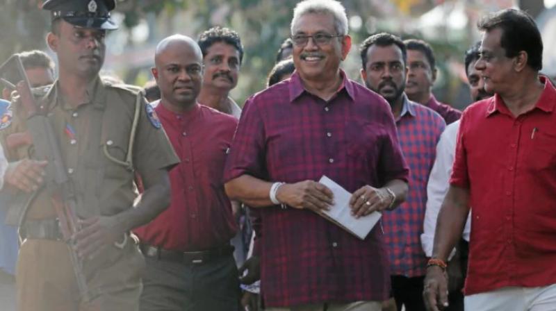 Sri Lanka's controversial wartime defence secretary Gotabaya Rajapaksa will take oath as the seventh executive president of Sri Lanka on Monday at the Ruwanweli Seya precincts in the ancient north central town of Anuradhapura. (Photo: File)