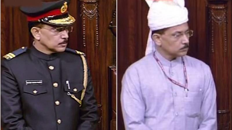 Rajya Sabha marshal's military-like uniform, which was introduced on the first day of the winter session, will be reconsidered after the design received much criticism. (Photo: File)