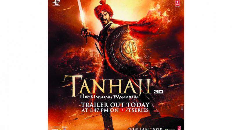Tanhaji, based on Shivaji's war against the Mughals, sees Ajay Devgn and Saif Ali Khan playing Maratha leader Tanhaji Malusare and Mughal stooge Udaybhan Rathore respectively. The film is slated to release after a month of Panipat's release.