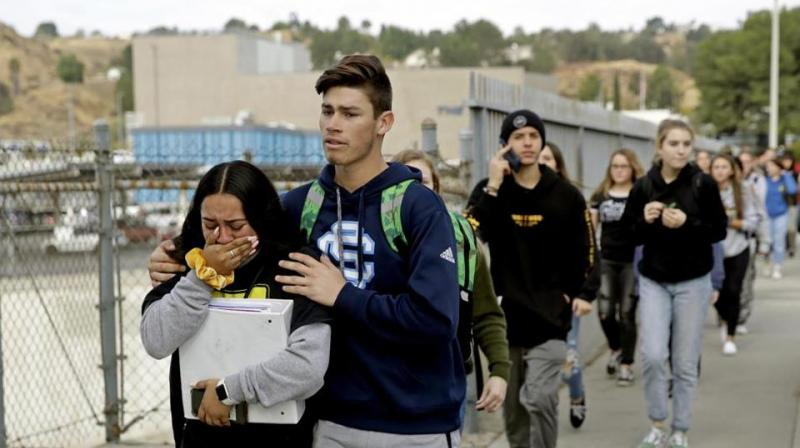 "The teenager who gunned down two classmates at a California school last week before shooting himself used a ""kit gun"" that is untraceable, authorities said Thursday. (Photo: AP)"