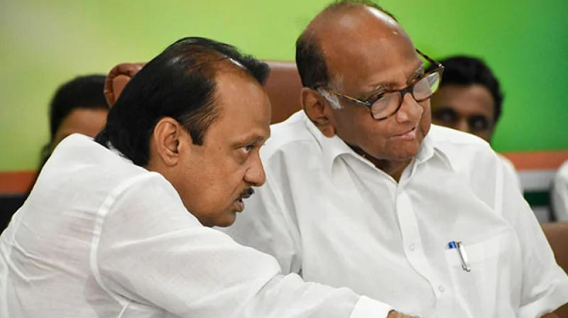 Ajit Pawar's decision to join hands with the BJP in an act of overnight rebellion bears a striking resemblance to his uncle Sharad Pawar's coup against a government formed by two Congress factions to become the state's youngest chief minister 41 years ago. (Photo: PTI)