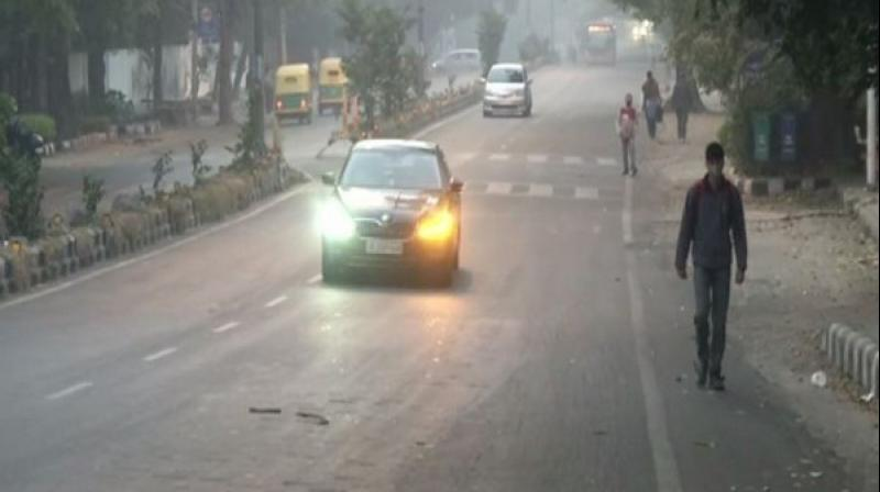 The air quality in the national capital continued to improve on Monday morning, although the overall AQI docked at 218, which falls in the 'poor' category. (Photo: File)