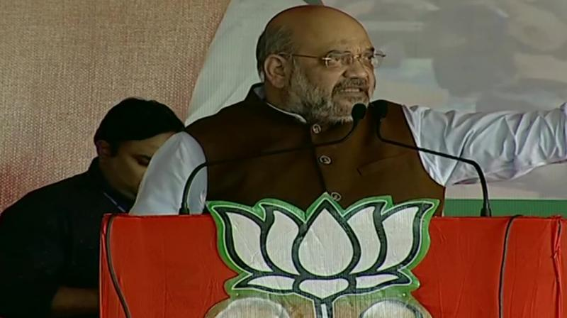 BJP president Amit Shah on Thursday said that the Atal Bihari Vajpayee government had created Jharkhand and the Narendra Modi dispensation is taking it forward. (Photo: Twitter/ ANI)