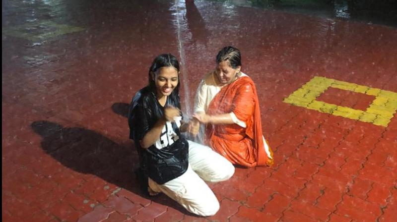 Uma  Bharti's rain picture that has gone viral