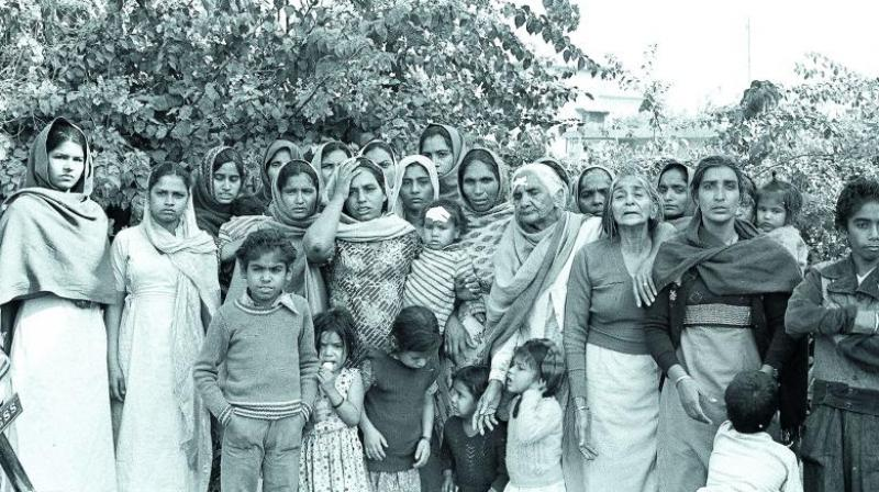 Survivors, mainly women of all ages who had become victims of mass genocidal rape and their children found some safety in the camps. Many families were resettled together in The Widow Colony in West Delhi where they tried to rebuild their lives.