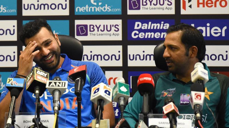 Rohit Sharma-led India will lock horns against Sarfraz Ahmed's Pakistan in their group stage clash of the Asia Cup 2018 on Wednesday. (Photo: AFP)