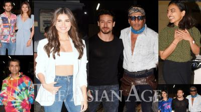 On Tuesday, Karan Johar arranged a special screening of his upcoming venture Student Of The Year 2 for Bollywood celebrities. People like Radhika Apte, Chunky Pandey, Jackie Shroff, Neelam, Samir Soni and others attened Tiger Shroff, Tara Sutaria and Ananya Panday starrer SOTY 2 screening. (Photos: Viral Bhayani)